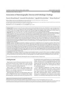 Association of Mammographic Density with