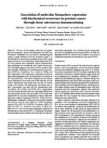 Association of molecular biomarkers expression with biochemical ...