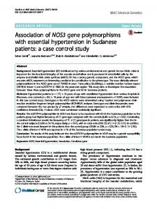 Association of NOS3 gene polymorphisms with essential ...www.researchgate.net › publication › fulltext › 32104640
