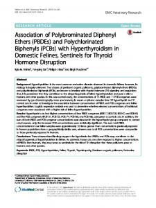 Association of Polybrominated Diphenyl Ethers (PBDEs) and ...