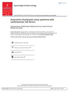 Association of polycystic ovary syndrome with ...
