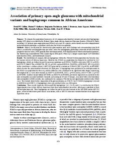 Association of primary open-angle glaucoma with ... - Semantic Scholar