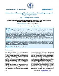 Association of Smoking Habits of Mother during Pregnancy with ...