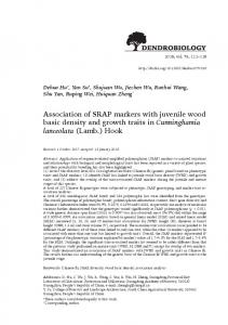 Association of SRAP markers with juvenile wood basic density and ...