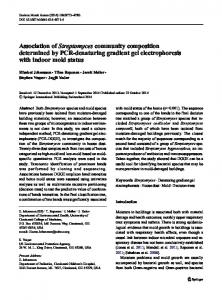 Association of Streptomyces community composition determined by ...