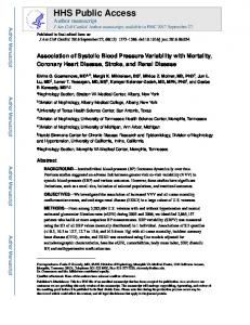 Association of Systolic Blood Pressure Variability with ...