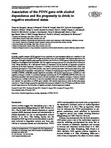 Association of the PDYN gene with alcohol ... - Semantic Scholar