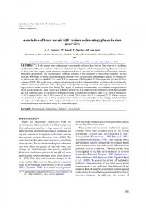 Association of trace metals with various sedimentary