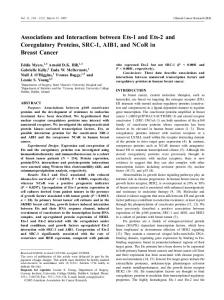 Associations and Interactions between Ets-1 and Ets-2 and ...