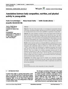 Associations between body composition ... - Wiley Online Library