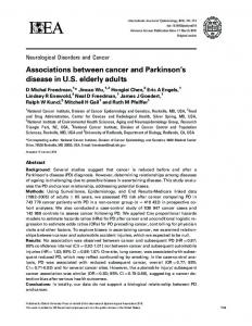 Associations between cancer and Parkinson's ... - Oxford Academic