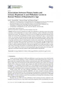 Associations between Dietary Intake and Urinary ... - Semantic Scholar