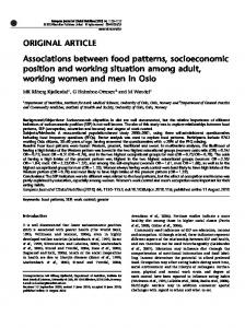 Associations between food patterns, socioeconomic position ... - Nature
