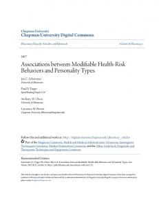 Associations between Modifiable Health-Risk Behaviors and ...