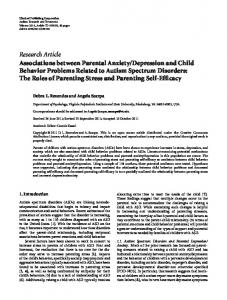 Associations between Parental Anxiety/Depression and Child ...
