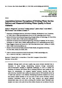 Associations between Perceptions of Drinking Water ... - BioMedSearch