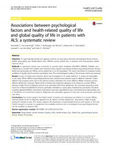 Associations between psychological factors and health-related ... - Core