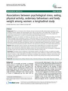 Associations between psychological stress, eating ... - BioMedSearch