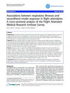 Associations between respiratory illnesses and secondhand smoke ...
