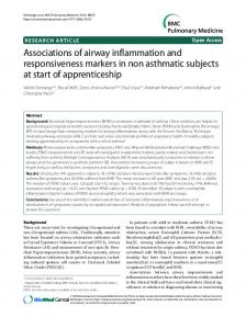 Associations of airway inflammation and ... - BioMedSearch