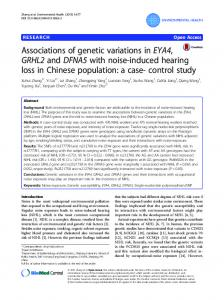 Associations of genetic variations in EYA4, GRHL2 and DFNA5 with ...