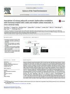 Associations of urinary polycyclic aromatic