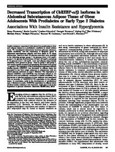 Associations With Insulin Resistance and Hyperglycemia - Diabetes