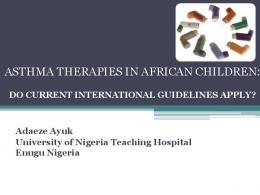 Asthma therapies in African children: do current