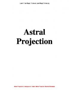 Astral Projection - Learn Free Magic Tricks