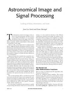 Astronomical Image and Signal Processing - Semantic Scholar