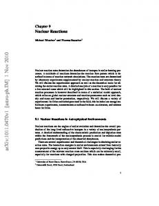 Astronomy with Radioactivities: Chapter 9, Nuclear Reactions