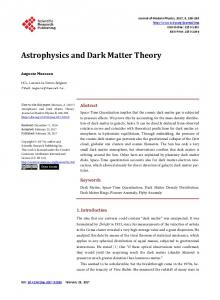 Astrophysics and Dark Matter Theory