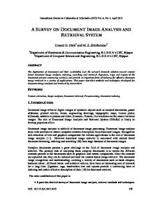 ASurvey ON DOCUMENT IMAGE ANALYSIS AND RETRIEVAL SYSTEM