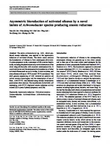 Asymmetric bioreduction of activated alkenes by a ... - Springer Link