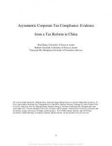 Asymmetric Corporate Tax Compliance: Evidence from ... - SSRN papers