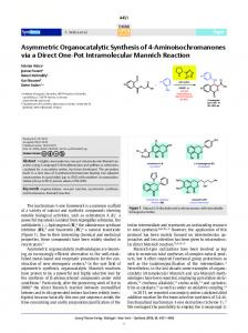 Asymmetric Organocatalytic Synthesis of 4 ... - Thieme Connect