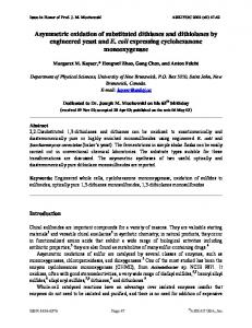 Asymmetric oxidation of substituted dithianes and dithiolanes ... - Arkivoc