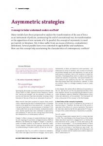 Asymmetric Strategies