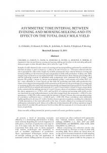 asymmetric time interval between evening and morning milking and its ...