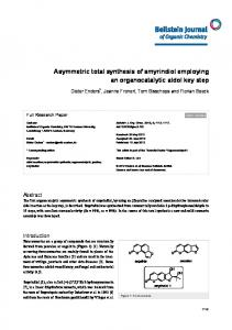 Asymmetric total synthesis of smyrindiol employing ... - Beilstein Journal