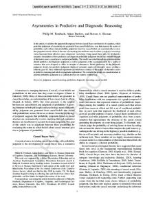 Asymmetries in Predictive and Diagnostic Reasoning - Google Sites