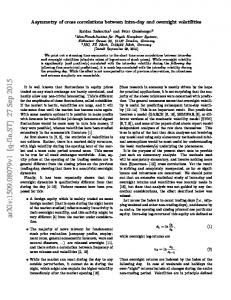 Asymmetry of cross correlations between intra-day and overnight ...
