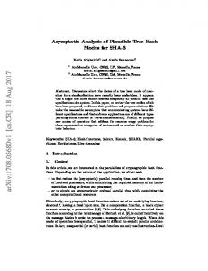 Asymptotic Analysis of Plausible Tree Hash Modes for SHA-3