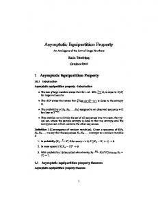 Asymptotic Equipartition Property - math.ubbcluj.ro