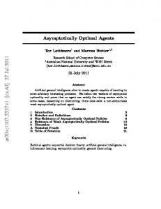 Asymptotically Optimal Agents