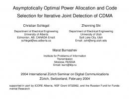 Asymptotically Optimal Power Allocation and Code ... - Semantic Scholar