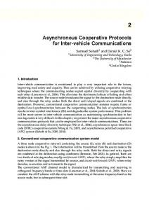 Asynchronous Cooperative Protocols for Inter-vehicle Communications