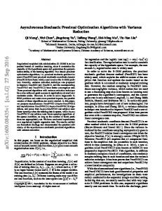 Asynchronous Stochastic Proximal Optimization Algorithms with