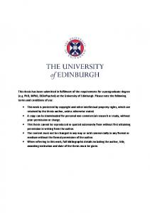 at th - Edinburgh Research Archive - The University of Edinburgh
