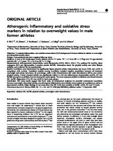 Atherogenic inflammatory and oxidative stress markers in relation to ...